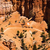 Brice Canyon with horseback riders trekking