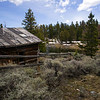 Deserted gold mining settlement near Atlantic City Wyoming