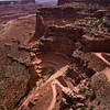 Track into the valley Canyonlands Utah