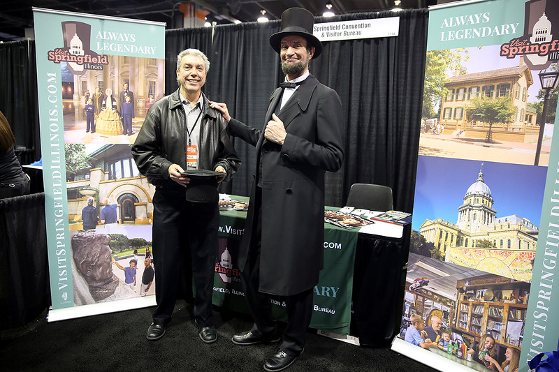 Ralph Hajik, Founder and CEO of RJTravelMedia meets Abe Lincoln.