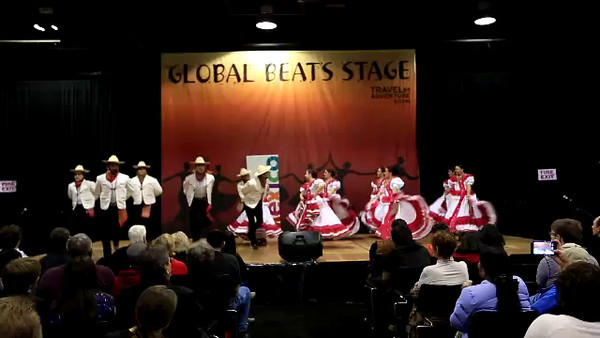 Beautiful costumes and music from Mexico.