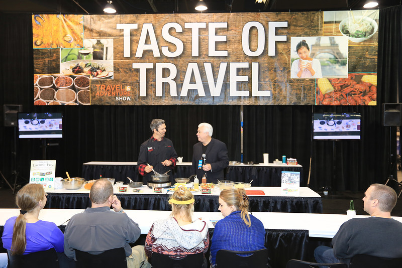 Come and get free samples from the Taste of Travel.