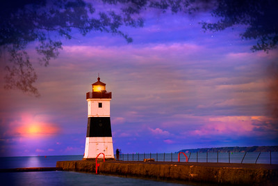 North Pier Lighthouse Sunset