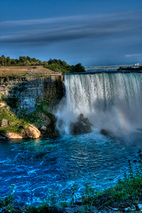 Niagara Falls viewed from the Canadian side.