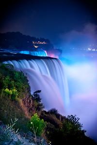 The Light Show at Niagara Falls
