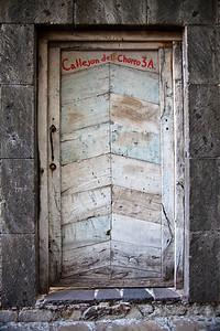 Wood door In San Miguel de Allende