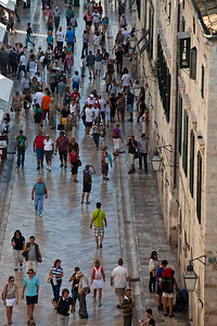 Old town main street Dubrovnik's main old town tourist street