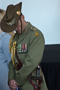 Soldier & medals Anzac day Perth 2011