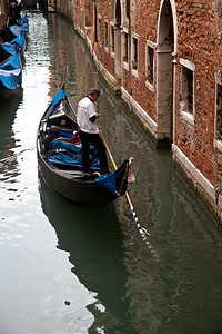 Gondolas & Canals Some of the many Gondolas in Venice
