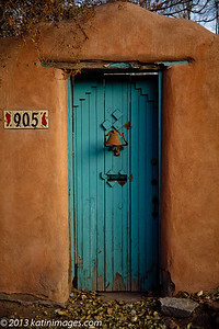 Doorway In Canyon Road In Santa Fe, New Mexico, USA
