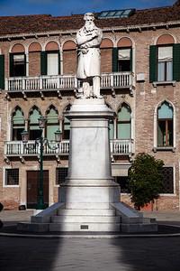 Statue of Niccolo Tommaseo, in Campo Santo Stefano in San Marco, Venice