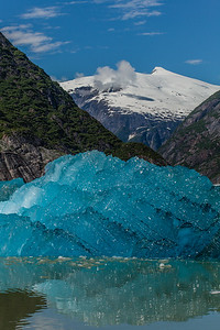 New ice after Calving at the Sawyer Glacier