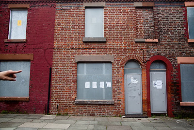 Abandoned Madryn Street The abandoned sinking street where Ringo Starr was born in Liverpool, England