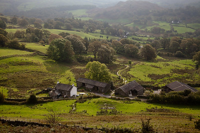 Little Langdale From Lingmoor, Lake District, England