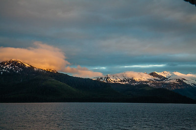 Mountains on the inside passage.