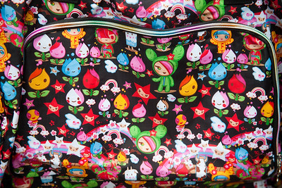 Colourful bag Old Spitalfields market East London, England