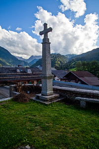 Church Cross Les Contamines, France
