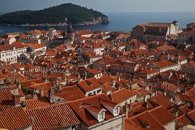 Rooftops of Dubrovnik Dubrovnik's old town