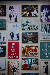 Picture stall Old Spitalfields market East London, England