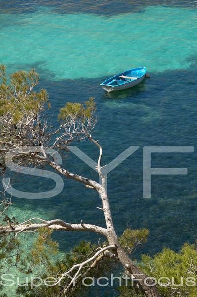 Mallorca, fishing boat in bay