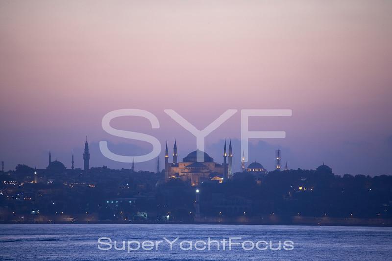 The Blue Mosque across the Bosporus