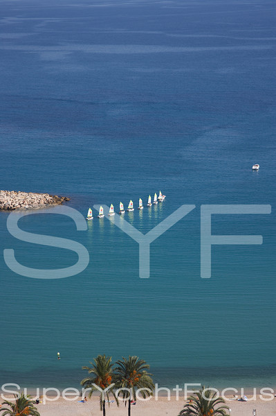 YR5Z6354  Sailing school Menton France