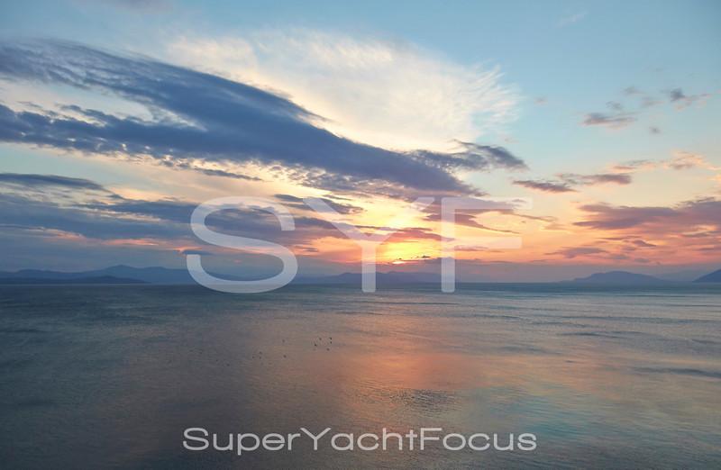 Sunset,Gulf of Evvia,Greece