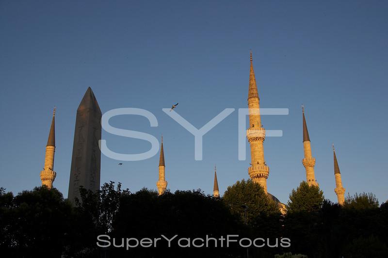 Minarets, Blue Mosque,Istanbul