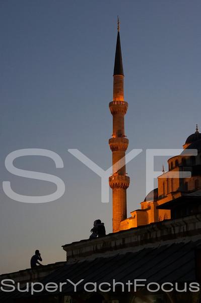 Minaret,Blue Mosque,the embrace