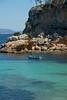 Mallorca bay with boat