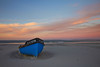 Fishing boat on Paternoster beach, South Africa