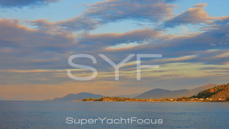 Sunrise,Gulf of Evvia,Greece