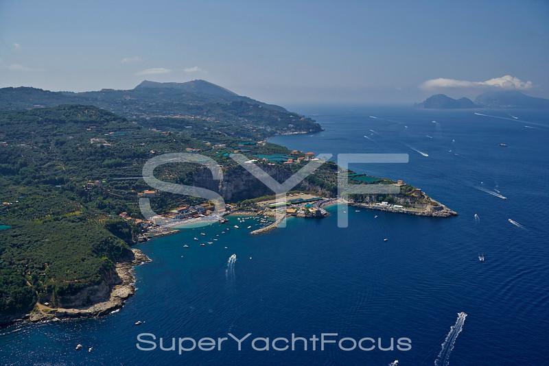 Sorrento coast towards Capri