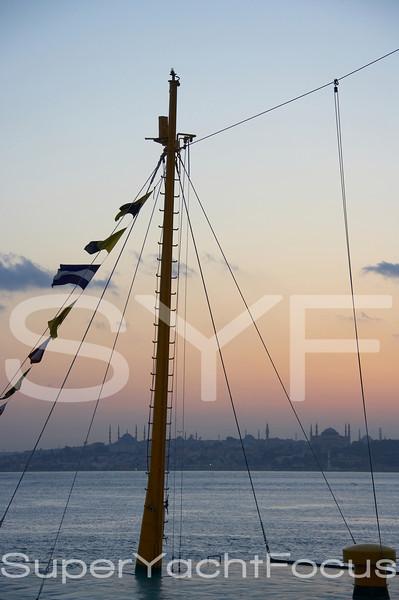 Bosporus with mast