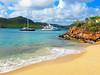 Yachts at anchor,Antigua