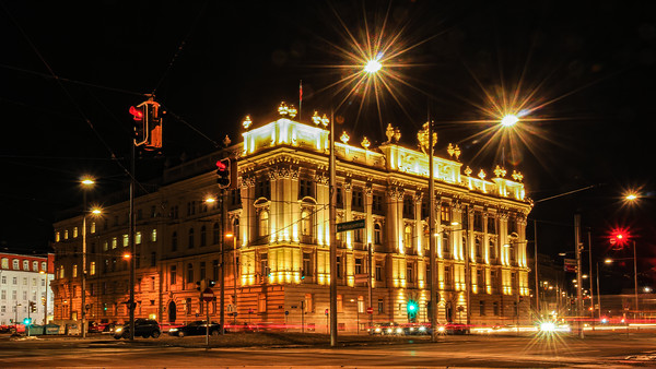 House of Industry Vienna at night