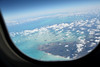 The first of a number of views showing the beautiful Caribbean from above.