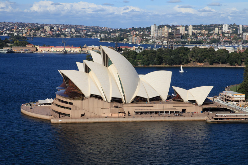 View of the Sydney Opera House from the Harbor Bridge