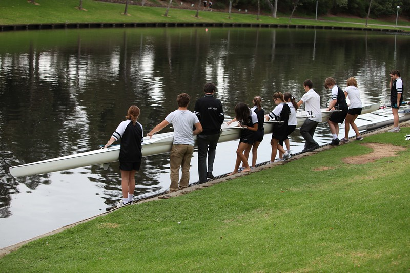 High School sculling team in Adelaide