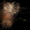 Fireworks over Niagara Falls.