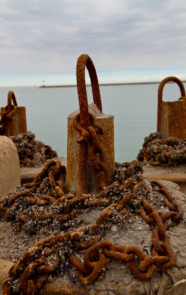 anchors by Lake Michigan