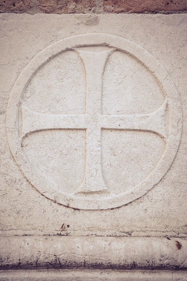 Equal Armed Cross in Venice, Italy