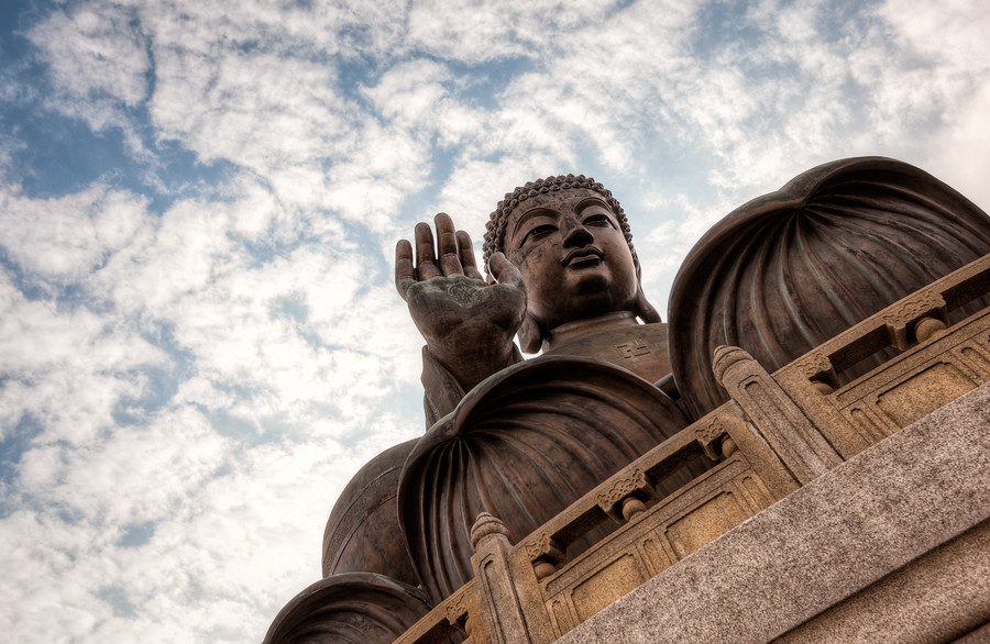 The Big Buddha of Po Lin Monastery in Hong Kong