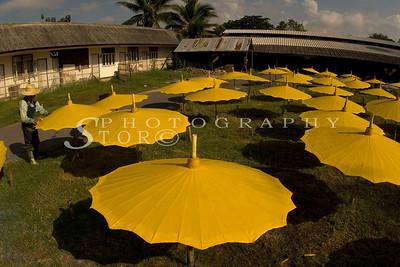Chiang Mai umbrella making factory