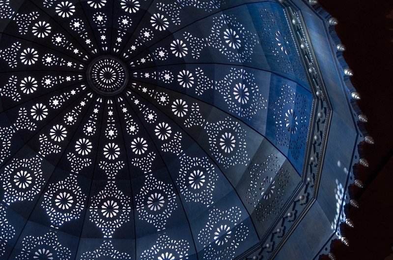 Blue Moroccan Skylight, Marrakech, Morocco