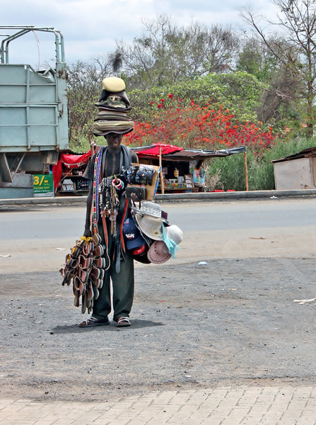 Street trader, Kenya