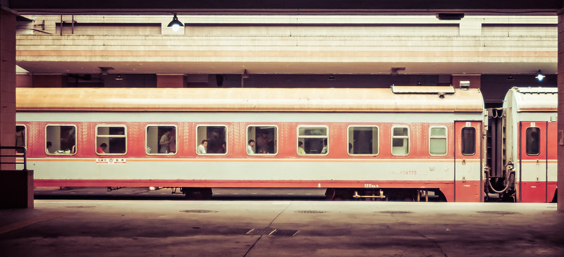 Waiting for a Train in Shanghai