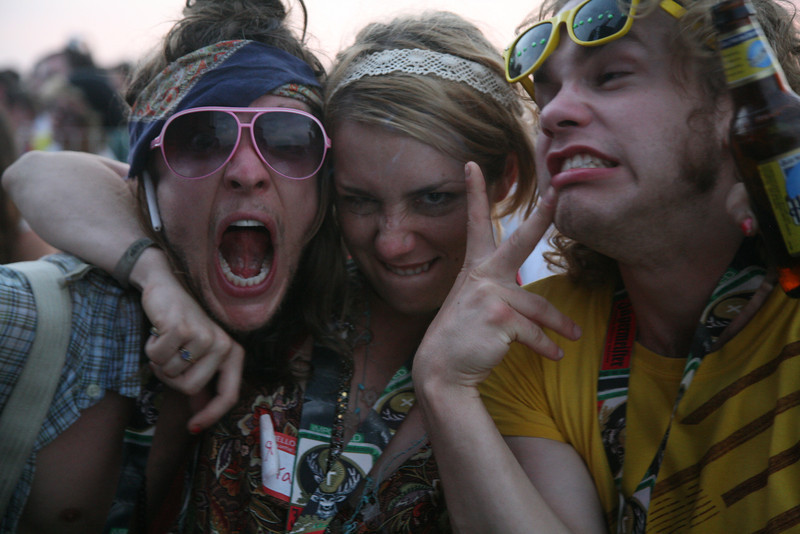 Revellers at Summercamp Festival, Illinois, 2009