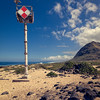 Lifeguard Tower at Ka'Ena Point on Oahu, Hawaii