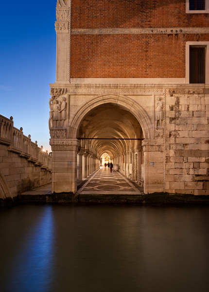 A Desperate View of the Doge's Palace in Venice, Italy